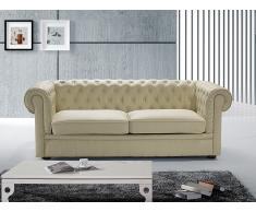 Sofá Chesterfield beis - sofá acolchado - sofá de piel - CHESTERFIELD