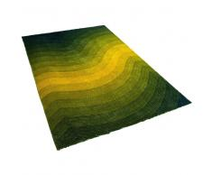 Alfombra verde-amarilla - 200x230 cm - Shaggy - EFEZ