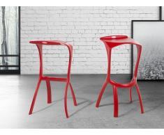 Taburete de bar – Silla – Rojo - BROOME
