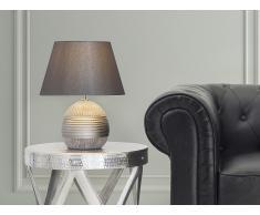 Lámpara de mesa - Pie de cerámica - Color plateado - SADO