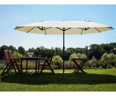 Sombrilla de jardín - Doble toldo - Color gris beige - 460 cm - SIBILLA