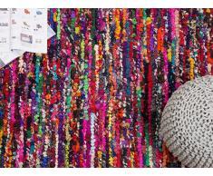 Alfombra de algodón - Multicolor - 140x200 cm- BAFRA