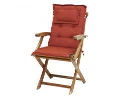 Cojín para silla de jardín - Perfecto para la silla JAVA - Color terracota