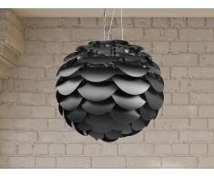 Lámpara de techo - Iluminación de salón - Negra - MOSELLE