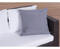 Cojín de jardín - Almohadón para mobiliario de exterior - 50x50 cm gris