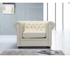Butaca beis - sillón de piel - CHESTERFIELD