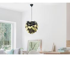 Lámpara de techo - Iluminación de techo - Negra / dorada - SILVIA