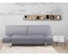 Sofá cama gris claro - Canapé - Sofá tapizado - YORK