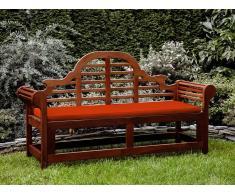Banco de jardín con colchón terracota clara 180 cm TOSCANA MARLBORO