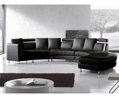 Sofá redondo negro - sofá de piel - sofá 7 plazas - ROTUNDE