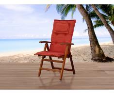 Cojín para silla de jardín TOSCANA - rojo oscuro
