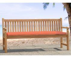 Colchón para banco de jardín TOSCANA - Superficie 160 cm - Color terracota