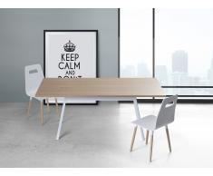 Mesa de comedor – 180cm- Blanco – FLOW