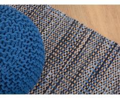 Alfombra de Algodón - Azul oscuro - Hecha a mano - 160x230cm - TALAS