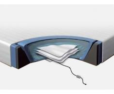 Accesorios para cama de agua - 180x200 cm - Colchón - 2 sistemas de calefacción - Funda - Bastidor de espuma
