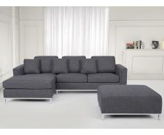 Sofá esquinero tapizado en gris derecho OSLO