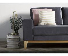 Sofá tapizado 2 plazas gris oscuro TIDAN