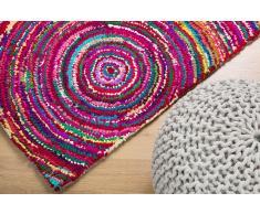 Alfombra de Algodón y Poliester - Multicolor - Pelo largo- 80x150 cm - KOZAN