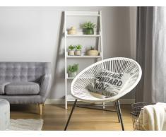 Conjunto de 2 sillas de jardín blanco ACAPULCO
