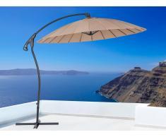 Sombrilla de jardín - Color moca - Metal - ø 258 cm – CALABRIA