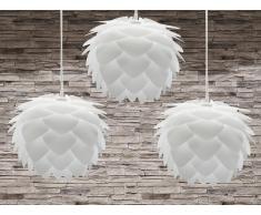 Lámpara de techo - Iluminación de techo - 3 piezas - Blanca - SILVIA mini