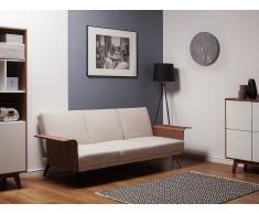 Sofá cama tapizado, beige, HALTI