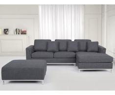 Sofá equinero tapizado gris, versión izquierda OSLO