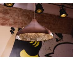 Lámpara de techo - Metal y vidrio - Color bronce - ISKAR