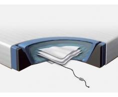 Accesorios para cama de agua - 160x200 cm - Colchón - 2 sistemas de calefacción - Funda - Bastidor de espuma