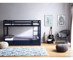 Litera de madera color azul oscuro 90x200 cm REGAT