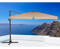 Sombrilla de jardín - Color moca - Metal - 300x300 cm - MONZA