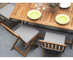 Conjunto de dos sillas de jardín madera de acacia marrón CENTO