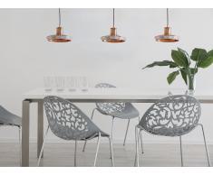Lámpara de techo redonda de cristal cobriza AMUR