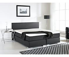 Cama continental tapizada en negro 160x200 cm PRESIDENT