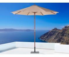 Sombrilla de jardín - Color moca - Madera ø 270 - TOSCANA II