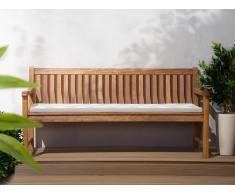Colchón para banco de jardín TOSCANA/JAVA zigzag gris beige 169x50x5 cm