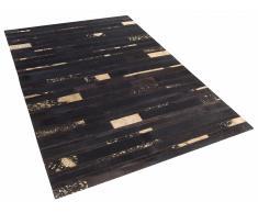 Alfombra de piel - marrón y oro - 140x200 cm - ARTVIN