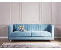 Sofá tapizado 3 plazas azul claro ARVIKA