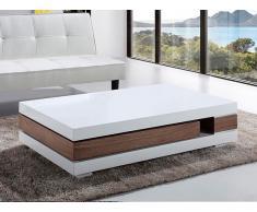 Mesa de centro - Castaño y blanco - Mesa de diseño - 120 x 70cm - LAGOS