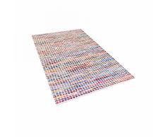 Alfombra de algodón - multicolor - 80x150 cm - Hecha a mano - BELEN