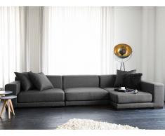 Sofá esquinero gris oscuro - Tapizado - Izquierdo- CLOUD