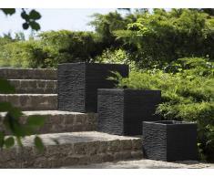 Maceta cuadrada negra 30x30x28 cm PAROS