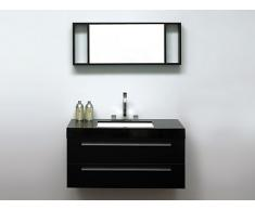 Mueble de baño - Negro - Lavabo -Armarios - Espejo - BARCELONA