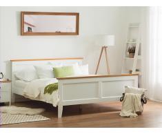 Cama en madera de pino blanca 140x200 cm OLIVET