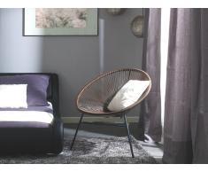 Conjunto de 2 sillas de jardín marrón ACAPULCO