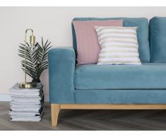 Sofá tapizado 2 plazas azul claro TIDAN