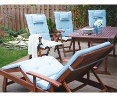 Cojín para silla de jardín TOSCANA color azul claro