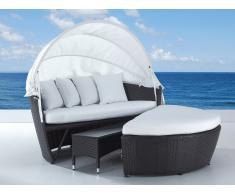 Cama de playa - camastro en ratán con mesa baja - SYLT LUX