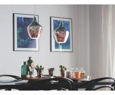 Lámpara de techo en cristal cromado SANGONE