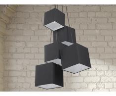Lámpara de techo - Lámpara colgante negra - MESTA
